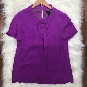 J.Crew Purple Short Sleeve Blouse Size 2 (n17)